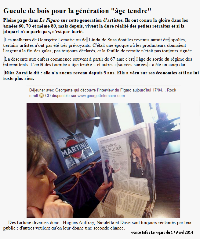 Capture Le figaro du 17 Avril 2014